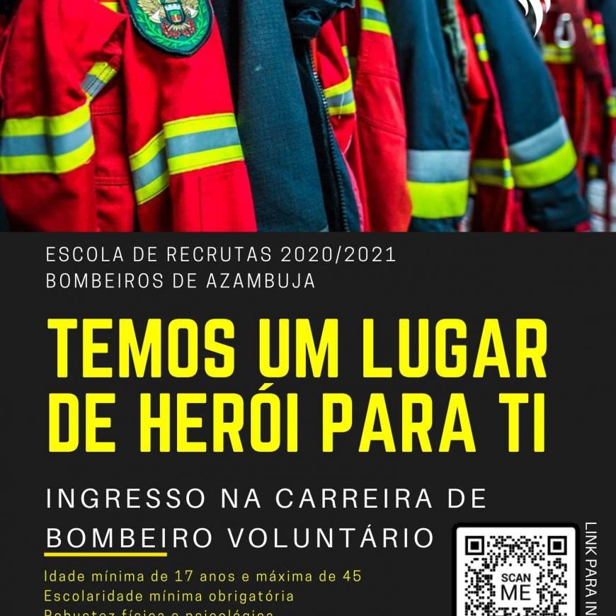 Recrutamento para a Carreira de Bombeiro Voluntário 2020/2021